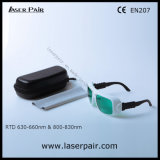 630 - 660nm Dir Lb3 & 800 - 830nm Lb5 de Bril van de Veiligheid van de Laser Dir voor 635nm Rode Laser + 808nm de Lasers van Dioden met Frame 36