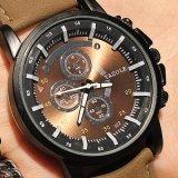 322のオリジナルのYazole販売のための男女兼用のブラウンの大きいダイヤルのスポーツの腕時計の柔らかい革腕時計