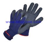 Gant chaud de latex de l'hiver, gant de travail