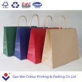 Os costumes de papel imprimiram o saco de papel da palha do ofício feito do papel de embalagem