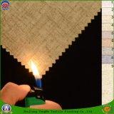 Textiles para el hogar a prueba de agua retardante de llama apagón tejido de lino mezcla de poliéster tela de la cortina