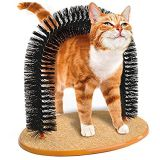 Purrfect Arco Auto-barbero y Massager del gato del gatito de la perca Rascador para mascotas Muebles Publicar árbol juguete Rascar la hierba gatera gatito del gato Auto barriendo y masajes