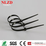 Black Nylon 66 Attache à câble autobloquante Cravate à torsion en plastique à plusieurs tailles en Chine