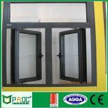 Guichet en verre de tissu pour rideaux en aluminium de Changhaï Pnoc avec la double glace