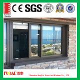 صنع وفقا لطلب الزّبون حجم ألومنيوم منزلق نافذة مع يليّن زجاج