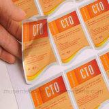De uitstekende kwaliteit Gepersonaliseerde Druk van de Sticker van het Etiket van pvc van de Douane Vinyl Zelfklevende