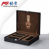 Caso de madera de alto grado durable modificado para requisitos particulares del conjunto de los regalos del té