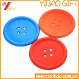 Couvre-tapis personnalisé de cuvette de silicones pour le cadeau promotionnel (YB-CM-01)