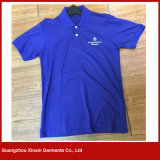 Kleding van het Overhemd van het Polo van de Polyester van de Prijs van de fabriek de Naar maat gemaakte Goedkope (P140)