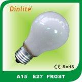 A15 15/25/40/60W weißglühendes Birnenlicht des Frosts