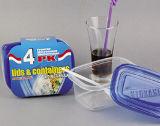Récipient d'entreposage en plastique rectangulaire Microwavable 24oz