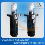 Hochdruckhydrozylinder mit einer vorderen Flansch-Montierung