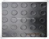 ISO9001, Reichweite bescheinigt runde Gleitschutztasten-Gummimatte/Gummiblatt