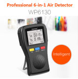 Portable 6-en-1 Mutifunction Moniteur de qualité de l'air Hcho & Tvoc & Pm2.5 / 10 Meter