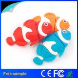 Colorir a vara animal dada forma peixes da memória da movimentação do flash do USB