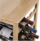 Flaschen-Fußboden des Gut-28, der feste hölzerne Wein-Zahnstangen-Möbel-Zahnstange steht