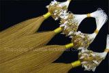 Extensão do cabelo humano do laço do anel em cores diferentes
