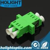 Adaptador óptico Lca de fibra al verde a dos caras de Lca SM con el borde