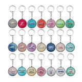 Personnalisée Souvenir Cristal Mode Keychain Métal pour la promotion de cadeau