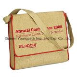 Bolsos de encargo del mensajero del hombro del yute del bolso cómodo de la conferencia de Eco