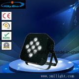 Lumière plate de PARITÉ de Guangzhou RVB 18PCS DEL, PARITÉ plate de la PARITÉ 18PCS 3W DEL du prix bas DEL