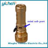 Mini antorcha de la linterna recargable del USB