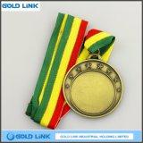 カスタムブランクメダル旧式な真鍮メダル挑戦硬貨の円形浮彫りのトロフィ