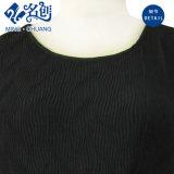 Negro multicolor sin mangas de capas de moda sexy de las mujeres de la fiesta del vestido de noche