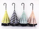 Зонтик двойного слоя автоматическим обратным перевернутый зонтиком