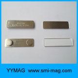 Clips magnéticos de crachá de metal de prata