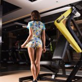 Women Dry Quick Jogging Exercises Tees Compressão Gym Sportswear