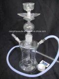 ガラスに煙る水水ぎせるの管の煙ること