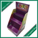 Kosmetische Nahrungsmittelimbiss-Wellpappen-Kostenzähler-Schaukartons