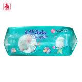 Forro absorvente super da fralda do bebê da umidade do fechamento da boa qualidade