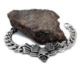 De punk Juwelen van het Staal van het Titanium van de Manier van de Armbanden van de Mensen van de Schedel