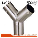 Acier inoxydable sanitaire ajustage de précision de pipe de coude de bride de 180 degrés