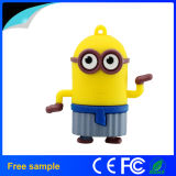 Promoção Gift 8GB Rubber Cartoon Minion USB Flash Drive