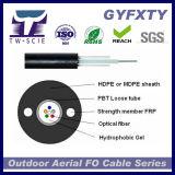 16 base GYXTW SM/milímetro de cable de fibra óptica aéreo acorazado al aire libre