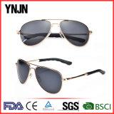 Vente chaude aucunes lunettes de soleil pilotes en verre d'hommes du logo UV400 (YJ-F8545)