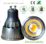 Ce intensidad regulable GU10 5W Luz LED COB