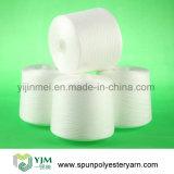 Dyeable de múltiples capas 100% hilo de poliéster en blanco crudo
