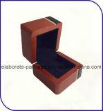 Rectángulo de madera hecho a mano de lujo del anillo de la venta al por mayor del rectángulo de joyería