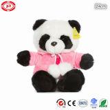 Panda sveglio con il giocattolo molle dei bambini del regalo della peluche della sciarpa del cappello