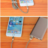 Mfi аттестовало кабель данным по USB молнии поручая для iPhone при алюминиевая заплетенная хлопко-бумажная ткань