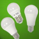 ampoule en aluminium enduite d'éclairage LED de 5W 7 W 9W PBT