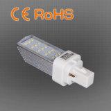 lámpara del reemplazo de la luz CFL del enchufe de 10W E27/G24 LED, garantía de 3 años, precio de fábrica