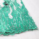 Tessuto in rilievo del merletto di Tulle del merletto nigeriano
