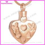 灰の壷のペンダントの宝石類のための金張りの火葬の宝石類のネックレス