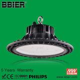 10 ans de garantie 150lm/W imperméabilisent la lumière élevée de compartiment d'UFO d'IP66 100W