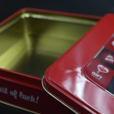 Exquisita ventana cuadrada caja de la lata / regalos de estaño / Metal Box (S007-V3)